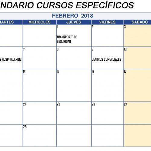 CAMBIO DE FECHAS DE LOS CURSOS ESPECÍFICOS EN FEBRERO