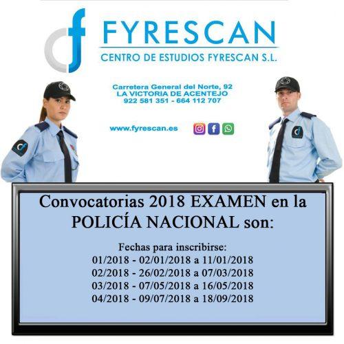 Convocatorias 2018 Examen en la Policía Nacional
