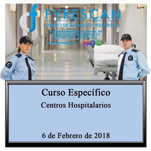 Curso Específico de Centros Hospitalarios 6 de Febrero de 2018  Inscríbete