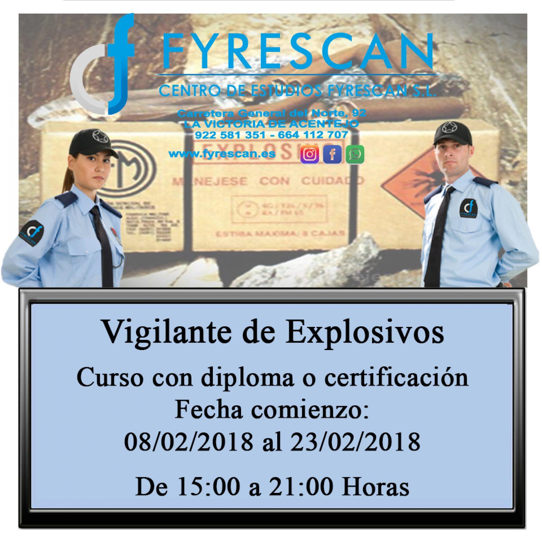 Curso de Vigilante de Explosivos – Inscríbete