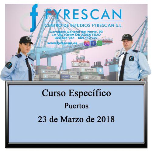 Curso Específico para Vigilantes de Seguridad Privada de Servicios en Puertos – Inscríbete