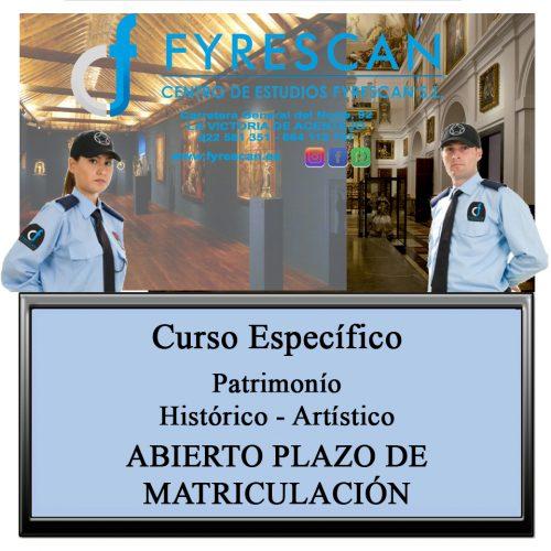 Curso Específico de Patrimonio Histórico – Artístico Abierto plazo de matriculación