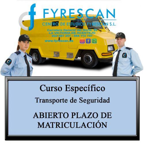 Curso Específico de Transporte de Seguridad Abierto plazo de matriculación