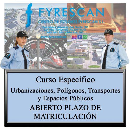 Curso Específico de Urbanizaciones, Polígonos, Transportes y Espacios Públicos Abierto plazo de matriculación