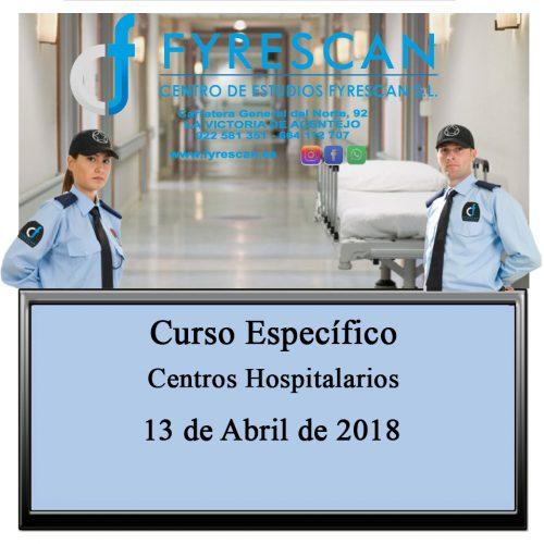 Curso Específico de Centros Hospitalarios día 13 de Abril de 2018 – Inscríbete