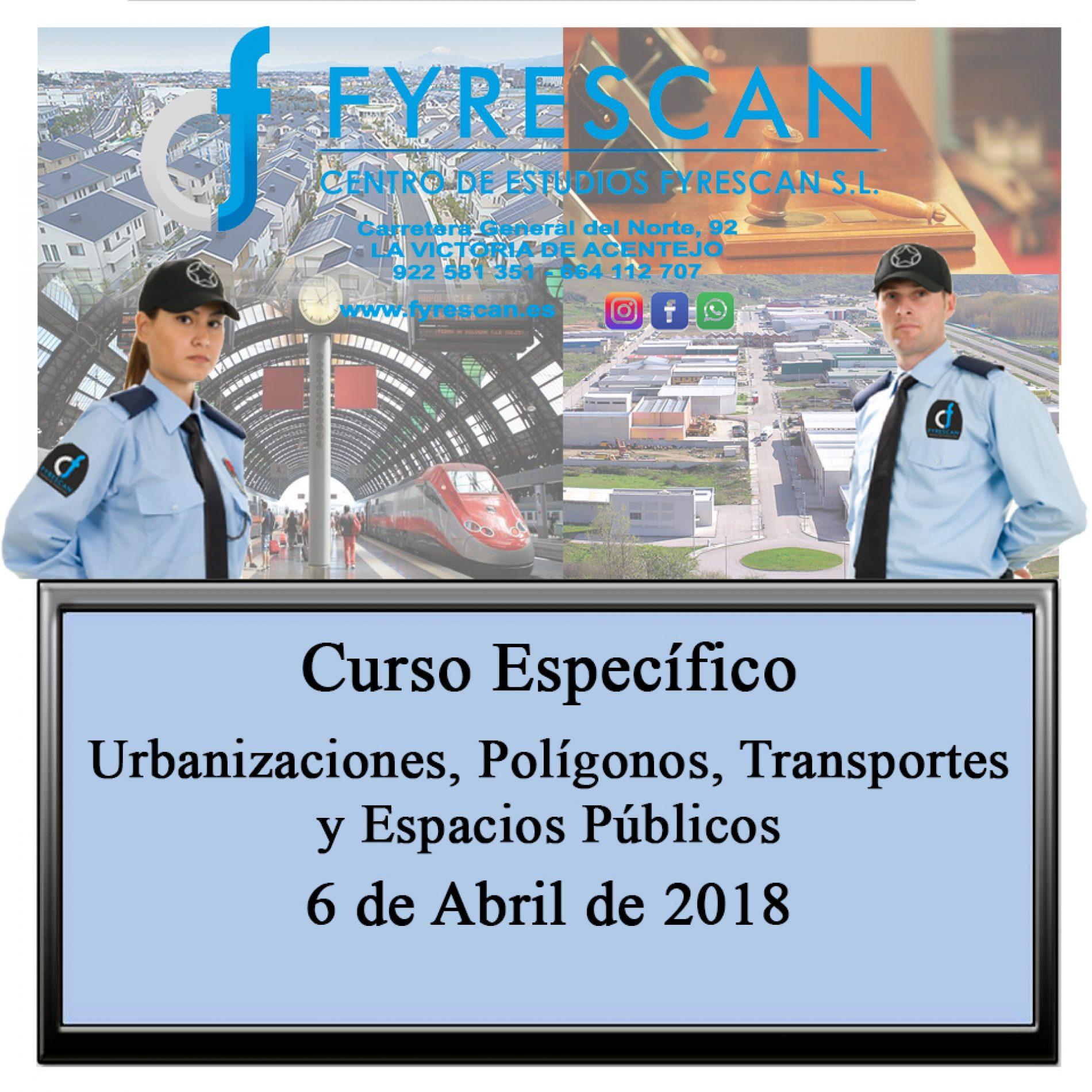 Curso Específico de Urbanizaciones, Polígonos, Transportes y Espacios Públicos día 6 de Abril de 2018 – Inscríbete