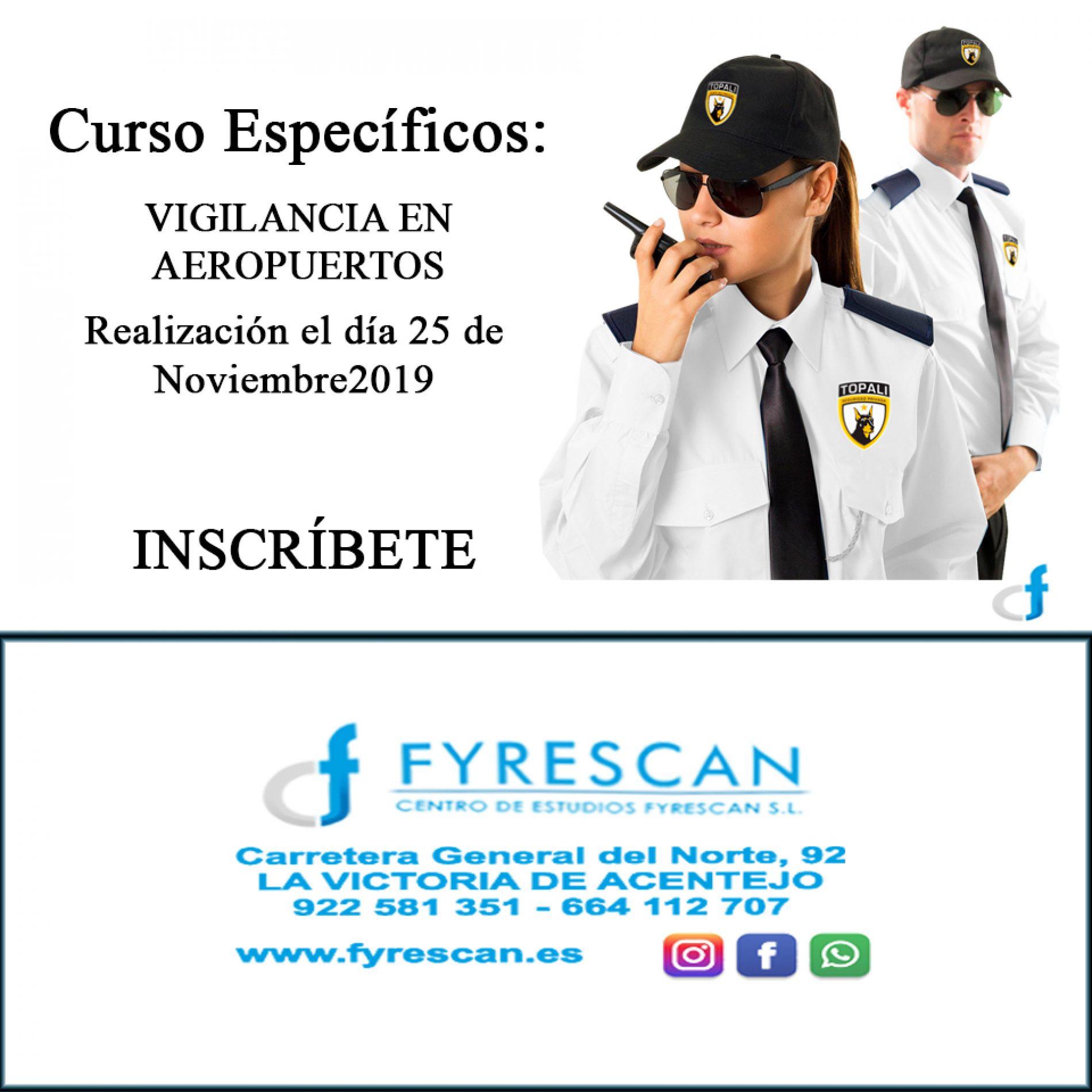 Curso específico de Aeropuertos el día 25 de Noviembre de 2019 – Inscríbete