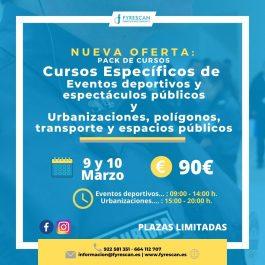 Curso específico de Eventos Deportivos y Espectáculos Públicos y Urbanizaciones