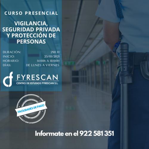 Curso de Vigilante de Seguridad Privada y Protección de personas