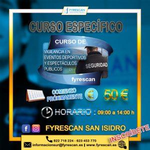 Lee más sobre el artículo Curso Específico de Eventos Deportivos y Espectáculos Públicos (En San Isidro)
